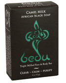 Triple Milled Face & Body Bar Camel Milk African Black Soap 4 oz (113 g), Bedu