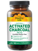 Activated Charcoal 260 mg 180 Capsules, Country Life