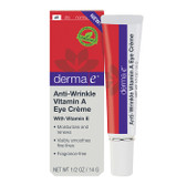 Anti-Wrinkle Vitamin A Eye Creme 1/2 oz (14 g), Derma E