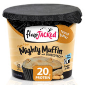 Mighty Muffin with Probiotics Peanut Butter 1.94 oz (55 g), FlapJacked