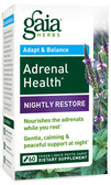 Adrenal Health Nightly Restore 60 Vegan Liquid Phyto-Caps, Gaia Herbs