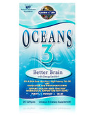Oceans 3 Better Brain with OmegaXanthin 90 sGels, Garden of Life