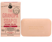 Face & Body Bar Soap Purify Rose Clay 4.25 oz (120 g), Grandpa's