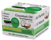 Coconut Oil Toothpaste with Baking Soda & Spearmint Oil 2 oz, Greensations