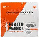 Chia Protein Bar Peanut Butter Cacao 12 Bars, Health Warrior