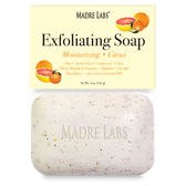 Exfoliating Soap Bar with Shea Butter Marula & Tamanu Citrus 5 oz, Madre Labs