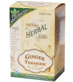 Organic Herbal Blends Ginger Turmeric w/ Black Pepper 20 Tea Bags, Mate Factor