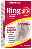 Ring Stop 60 Caps Natural Care, Tinnitus, Ringing & Buzzing in the Ears