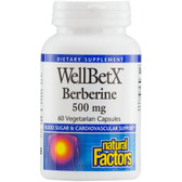 WellBetX Berberine 500 mg 60 VCaps Natural Factors