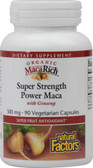 Organic MacaRich Super Strength Power Maca w/Ginseng 500mg 90 C, Natural Factors