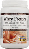 Whey Factors 100% Natural Whey Protein Double Chocolate 12 oz, Natural Factors