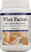 Whey Factors 100% Natural Whey Protein French Vanilla 12 oz, Natural Factors