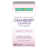 Cranberry Complex w/ Hibiscus Whole Fruit Concentrate 60 sGels, Nature's Bounty