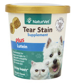 Tear Stain for Dogs & Cats Plus Lutein Soft Chews 5.4 oz (154 g), NaturVet