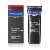 Men Triple Protect Face Lotion with Sunscreen SPF 20 1.7 oz (50 ml), Neutrogena