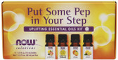 Put Some Pep in Your Step Uplifting Essential Oils Kit 4 Bottles, Now Foods