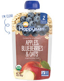 Organic Baby Food Stage 2 6+ M Apples Blueberries Oats 4oz, Nurture (Happy Baby)