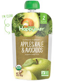 Organic Food Stage 2 6+ M Apples Kale Avocados 4 oz, Nurture (Happy Baby)