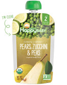 Organic Baby Food Pears Zucchini & Peas Stage 2 6+ M 4 oz, Nurture (Happy Baby)