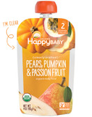 Organic Baby Food Stage 2 6+ Months Pears Pumpkin Passion Fruit 4 oz, Happy Baby