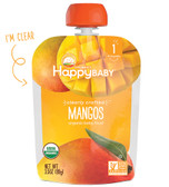 Organic Baby Food Clearly Crafted Mangos Stage 1 4 + M 3.5 oz, Happy Baby