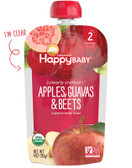 Organic Baby Food Apples Guavas & Beets Stage 2 6+ M 4 oz, Nurture (Happy Baby)