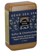 Triple Milled Mineral Soap Sulfur & Chamomile 7 oz (200 g), One with Nature