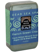 Triple Milled Mineral Soap French Green Clay 7 oz (200 g), One with Nature