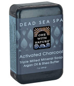 Triple Milled Mineral Soap Actvated Charcoal 7 oz (200 g), One with Nature