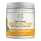 Body Butter Restoring Honey & Coconut Oil 8 oz (237 ml), Petal Fresh