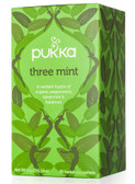 Three Mint Caffeine Free 20 Herbal Tea Sachets 1.12 oz (32 g), Pukka Herbs