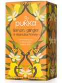 Lemon Ginger & Manuka Honey Tea C-F 20 Tea Sachets, Pukka Herbs