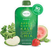Purify Apple Guava Kale Strawberry Parsley Chia 4 Pouches, SHINE Organics