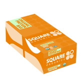 Organic Protein Bar Chocolate Coated Peanut Butter 12 Bars, Squarebar