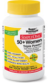 Simply One 50+ Women Triple Power! Iron Free 90 Tabs, Super Nutrition