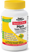 Simply One Men Triple Power! Iron Free 90 Tabs, Super Nutrition