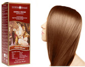 Henna Cream Healthy Hair Color for Grey Coverage Golden Brown 2.37 oz, Surya
