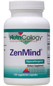 ZenMind 120 VCaps, Nutricology, L-theanine and GABA