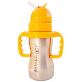Thinkbaby Thinkster of Steel Bottle 1 Straw Bottle 290 ml, Think