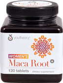 Women's Maca Root 120 Tabs, Youtheory