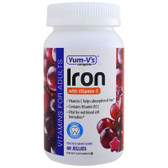 Iron with Vitamin C Grape Flavor 60 Jelly Vitamins, Yum-V's