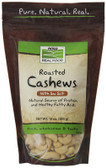 Real Food Roasted Cashews Lightly Sea Salted 10 oz, NOW Foods