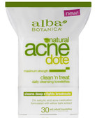 Alba Botanica AcneDote Clean & Treat 30 Towelettes