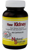 Raw Kidney 60 Caps Natural Sources