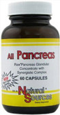 All Pancreas 60 Caps Natural Sources