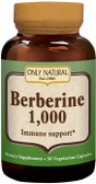 Berberine 1000 mg Immune Support 50 VCaps, Only Natural