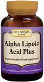 Alpha Lipoic Acid Plus 200 mg 60 VCaps, Only Natural, Blood Sugar