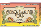 Nopal Cactus Tea 20 Tea Bags, Only Natural, No Caffeine, Blood Sugar