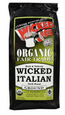Organic Fair Trade Ground Coffee Wicked Italian 12 oz, Wicked Joe