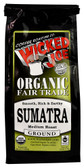 Organic Fair Trade Ground Coffee Sumatra 12 oz, Wicked Joe